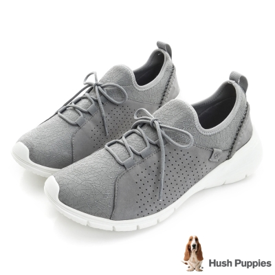 Hush Puppies EIREEN 輕量綁帶式健走鞋-灰色
