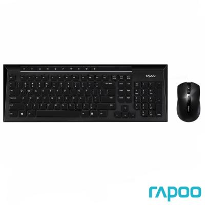Rapoo 雷柏8200P 無線光學鍵鼠組-黑