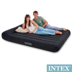 INTEX《舒適型》雙人加大植絨充氣床墊(寬152cm)-有頭枕 (66769)
