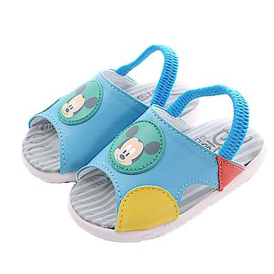 迪士尼米奇鬆緊帶嗶嗶鞋 藍 sk0407 魔法Baby