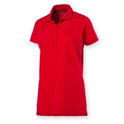 PUMA-女性法拉利經典系列小盾牌短袖Polo衫-法拉利紅-歐規