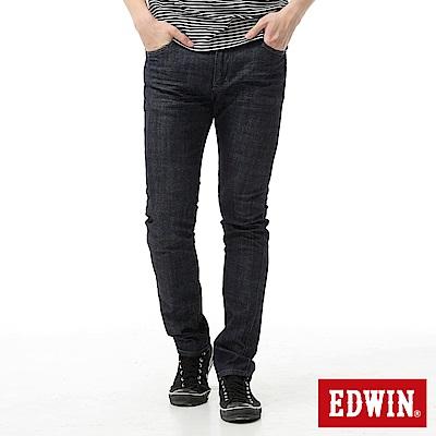EDWIN 大尺碼窄直筒 EDGE假袋蓋牛仔褲-男-原藍色