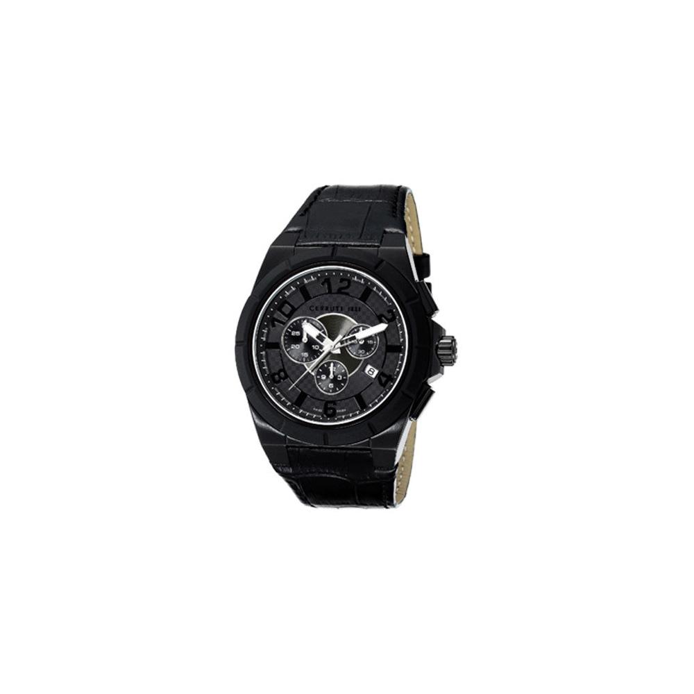 CERRUTI 1881 羅馬尊榮三眼計時腕錶-全黑