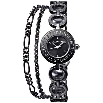 JILL STUART Bracelet Logo手鍊腕錶-黑/20mm