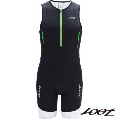 2014 ZOOT頂級碳纖肌能連身鐵人衣 (男-黑翠綠)Z1406017 三鐵