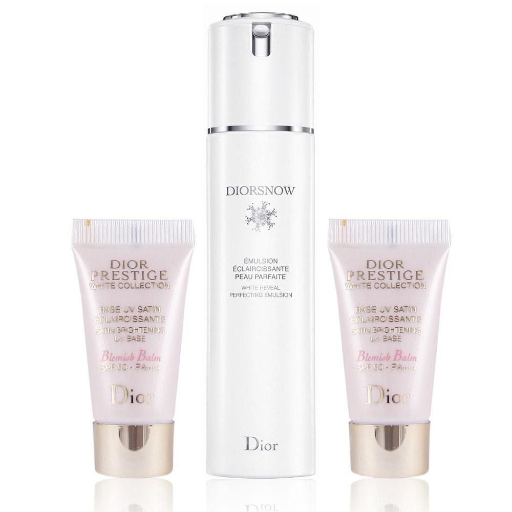 Dior迪奧 雪晶靈透白乳液 50ml + 贈 花蜜淨白防護BB霜 5ml x 2入