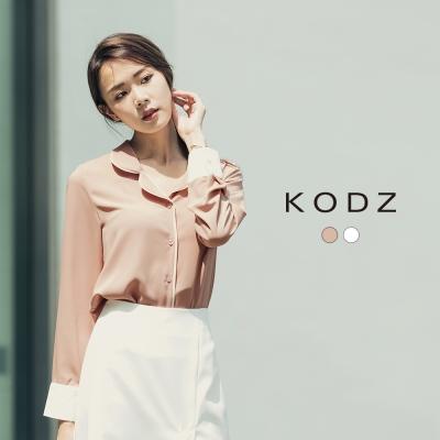 東京著衣-KODZ 都會簡約拼接質感撞色襯衫-S.M.L(共二色)