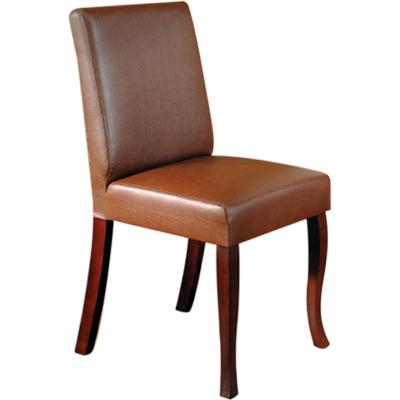 英式古典休閒餐/書椅-咖啡色
