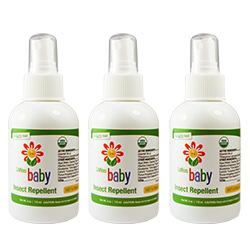 美國USDA有機認證 Lafe's Organic有機嬰兒防蚊液3入
