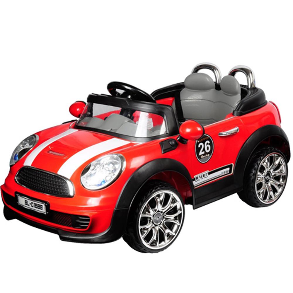 寶貝樂 mini附遙控兒童電動車-紅色