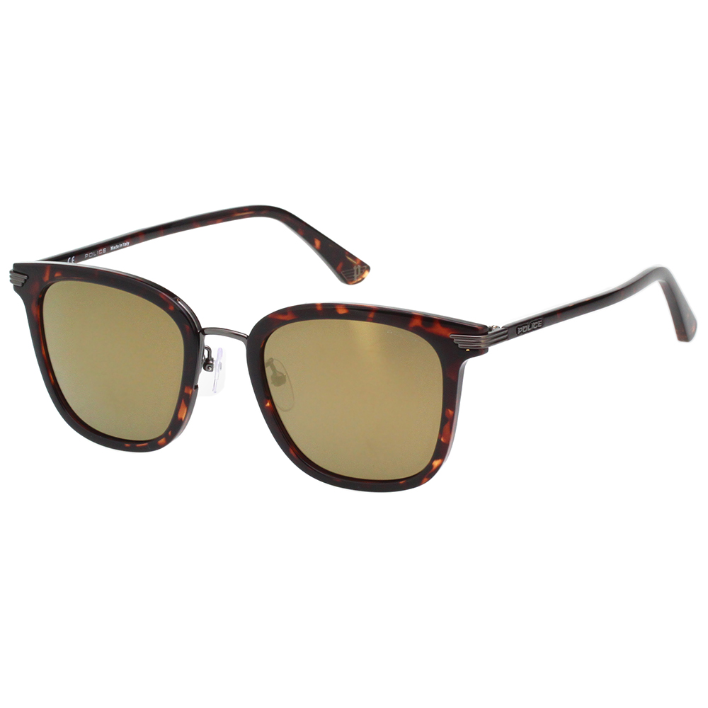 POLICE 水銀面太陽眼鏡 (琥珀色 ) SPL463G