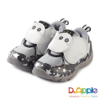 Dr. Apple 機能童鞋 噴水大象飛越星空閃亮亮童鞋款 黑