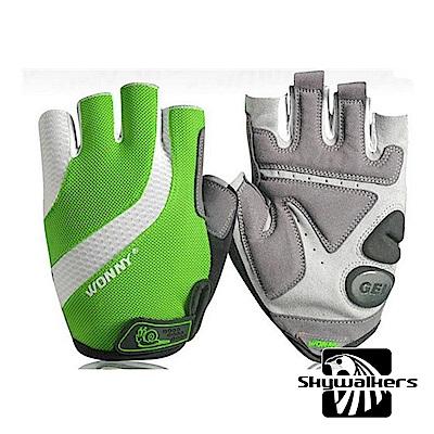 WONNY單車半指手套(綠)