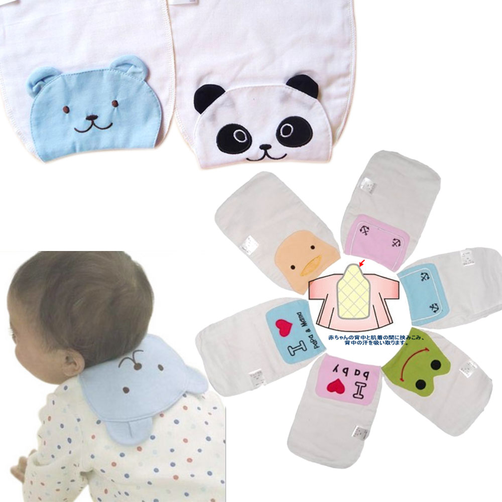 kiret日本紗布巾吸汗巾墊背圍兜2入組嬰兒用品