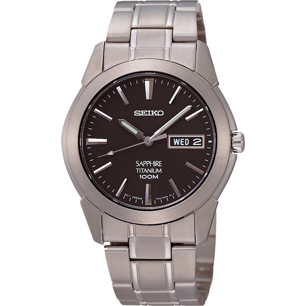 SEIKO 鈦金武士時尚腕錶(鐵灰)