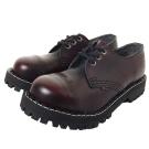 STEEL BOOTS歐洲經典3孔鐵頭鞋-酒紅
