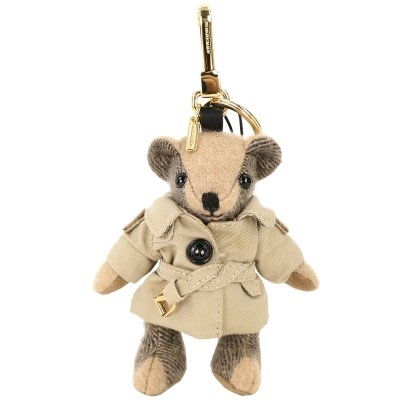 BURBERRY Thomas 風衣造型喀什米爾泰迪熊(駝色)