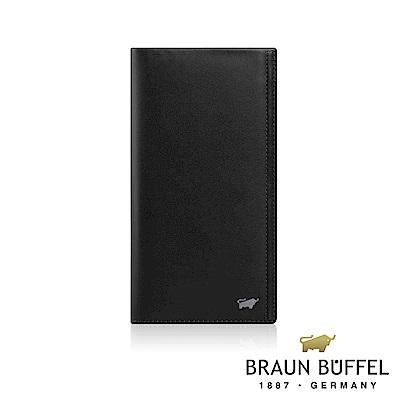 BRAUN BUFFEL -ANDRO 安卓系列7卡V型格片長夾 - 太空黑