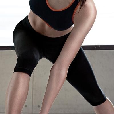推Audrey-就是愛運動 運動型七分褲(伸展黑)