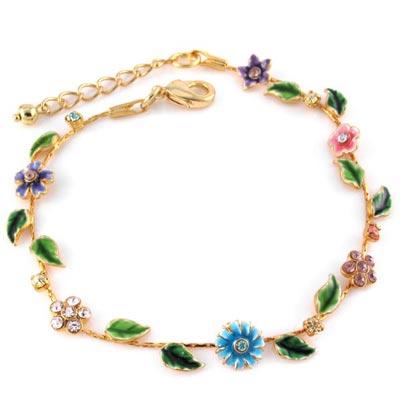 KOURIN花園系列-法瑯小雛菊水鑽彩花手鍊