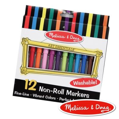 美國瑪莉莎 Melissa & Doug 可水洗細頭彩色筆 - 12色