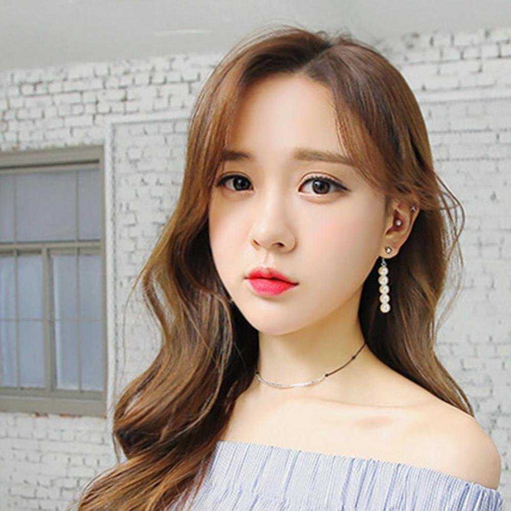 梨花HaNA 韓國時髦風潮珍珠一字串飾耳環