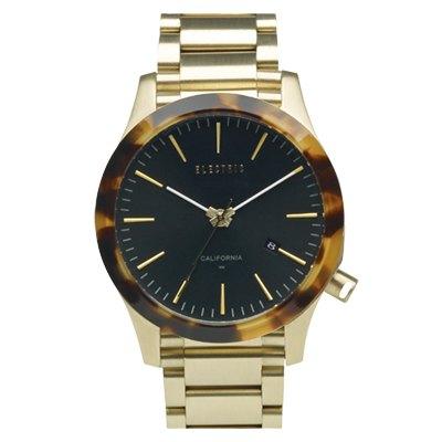 ELECTRIC FW03系列-優雅精品時尚腕錶-玳瑁x金鋼帶/40mm