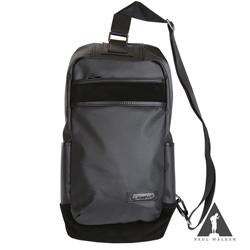 Paul Walker 東京都會系列三扣環拉鍊透氣斜背單肩包 時尚黑