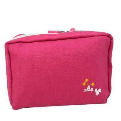 iSFun 繽紛色調 多層布面收納包 四色可選