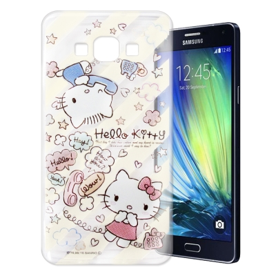 Hello Kitty SAMSUNG Galaxy A7 透明軟式殼 熱線款