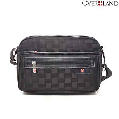 OVERLAND-美式十字軍x美式潮酷格紋輕體側背包