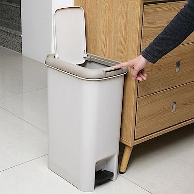 創意達人 凱米雙用腳踏垃圾桶(大)15L-2入組