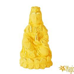 【Magic魔法金】寶瓶觀音( 0.9錢) 立體黃金  (木盒精裝)