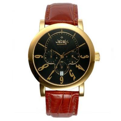 Jebely瑞士機械錶_聖莫里茲塔系列三眼造型-黑/42mm