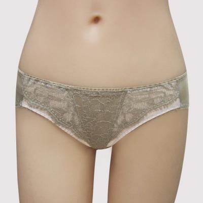 瑪登瑪朵-我挺妳輕薄蕾絲  低腰三角萊克褲(氣質棕)