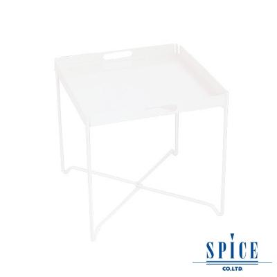 【日本 SPICE 】 戶外休閒 時尚 白色 輕巧收納 托盤餐桌