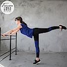 台灣品質.世界同布~花紗拼接運動九分褲/瑜伽褲.2色-OB大尺碼
