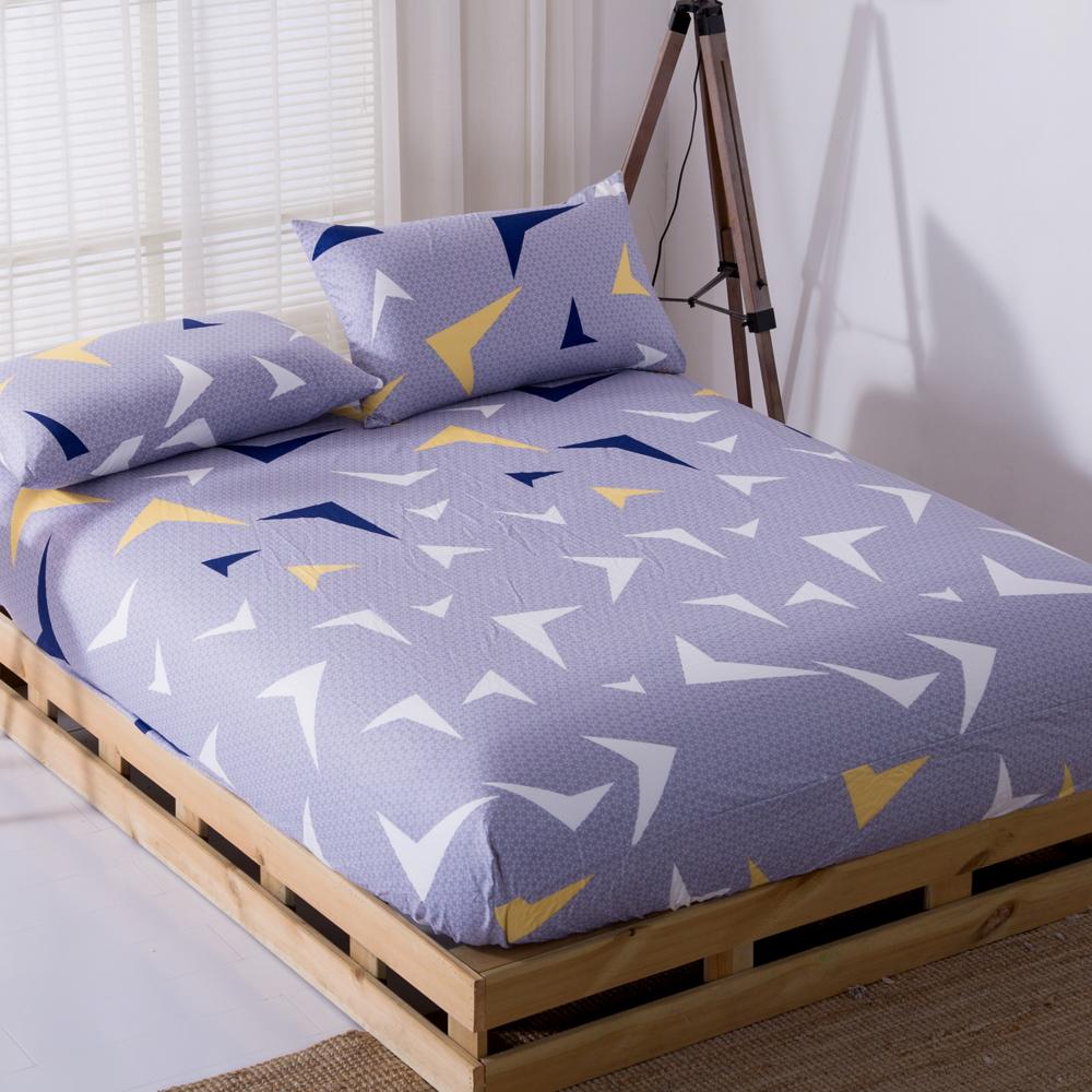 DON城市夢想 雙人三件式蜜絲絨床包枕套組