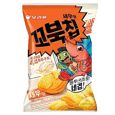 好麗友 烏龜玉米脆片-烤蝦風味 家庭號(160g)