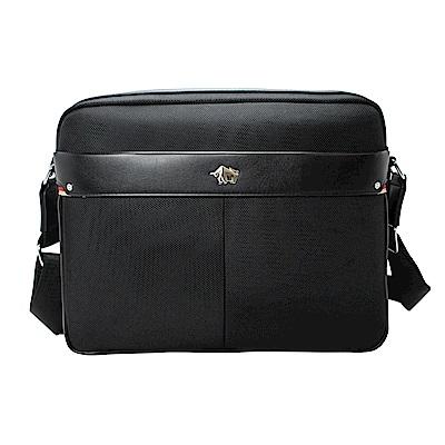 DRAKA 達卡 - 經典紳士-頂級防潑水斜背筆電公事包