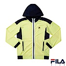 FILA KIDS 男童吸濕排汗針織外套-淡黃1JKS-4300-LE