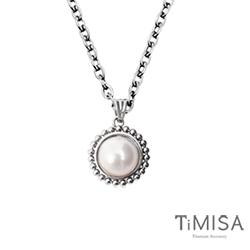 TiMISA《珍心真意-白珍珠》純鈦項鍊(E)