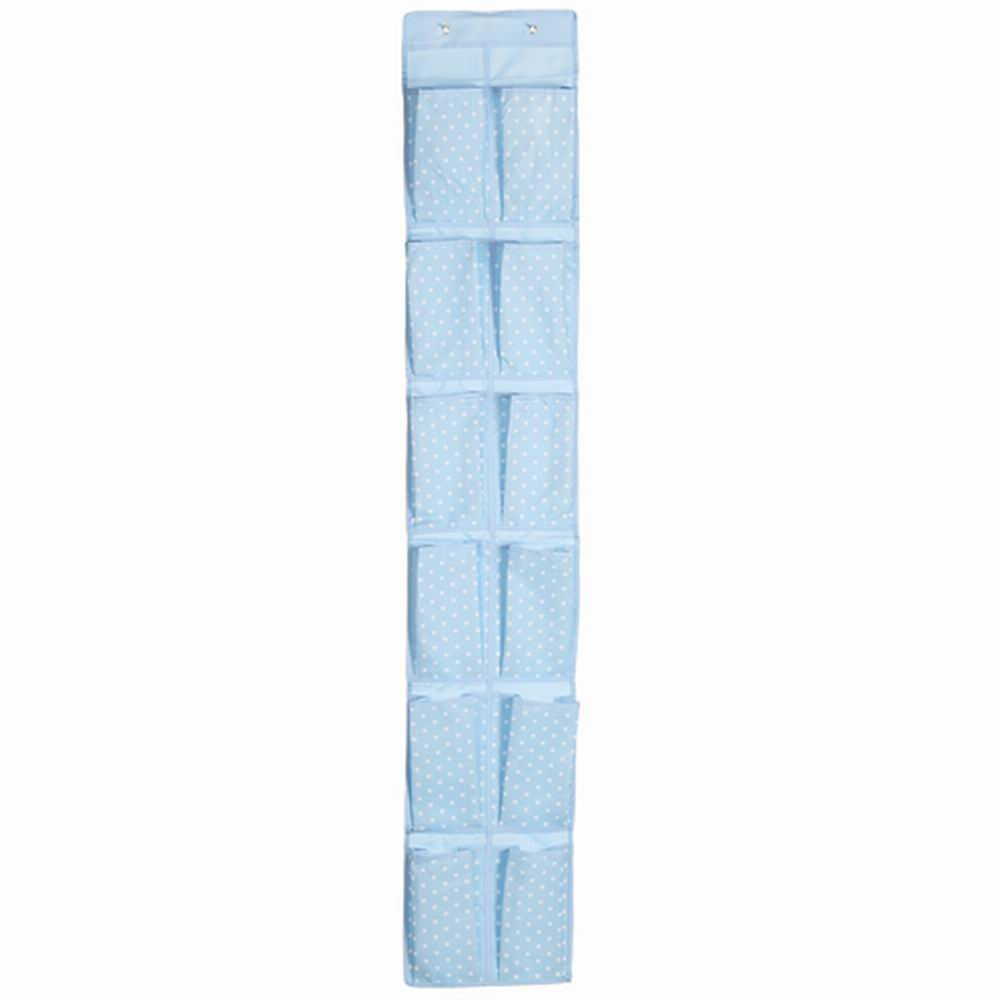 iSFun 牛津點點 內衣雜物收納12格掛袋 藍160x28cm