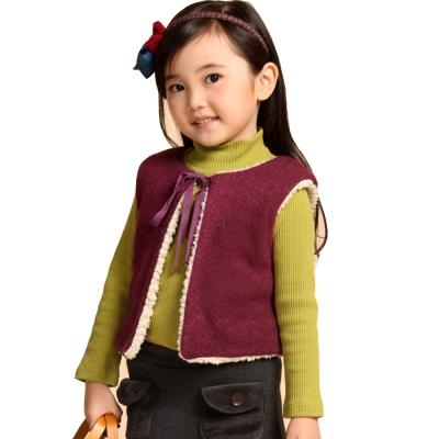 魔法Baby~絨毛內裡厚款背心外套(紫.灰)~k29895