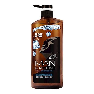 澎澎MAN 咖啡因勁涼洗髮露-650g+30g