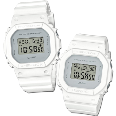 CASIO經典潮流簡單數位設計概念休閒錶(DW-5600CU-7+BGD-560CU-7)
