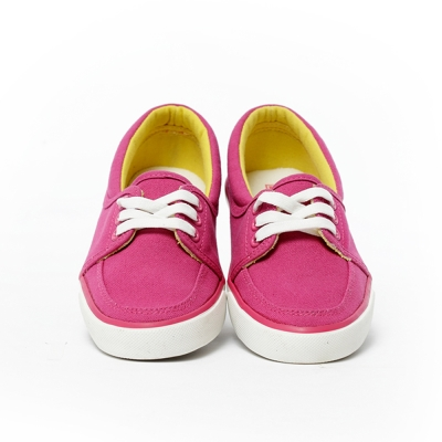 TOP GIRL-清新質感綁帶休閒鞋-桃紅