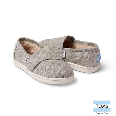 TOMS 斜紋內鋪毛休閒鞋-幼童款