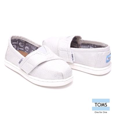 TOMS 亮面波紋懶人鞋-幼童款