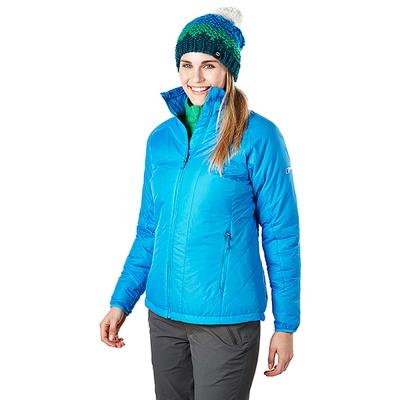【Berghaus貝豪斯】女款溫度調節高科技棉防風外套H22FR1-藍